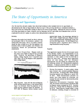 Latinos and Opportunity